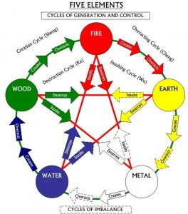 Chinese medicine five element cycle