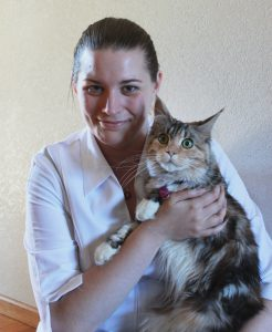 "Dr. Erika and her ""kitten"" Pippilotta Fluffstocking"